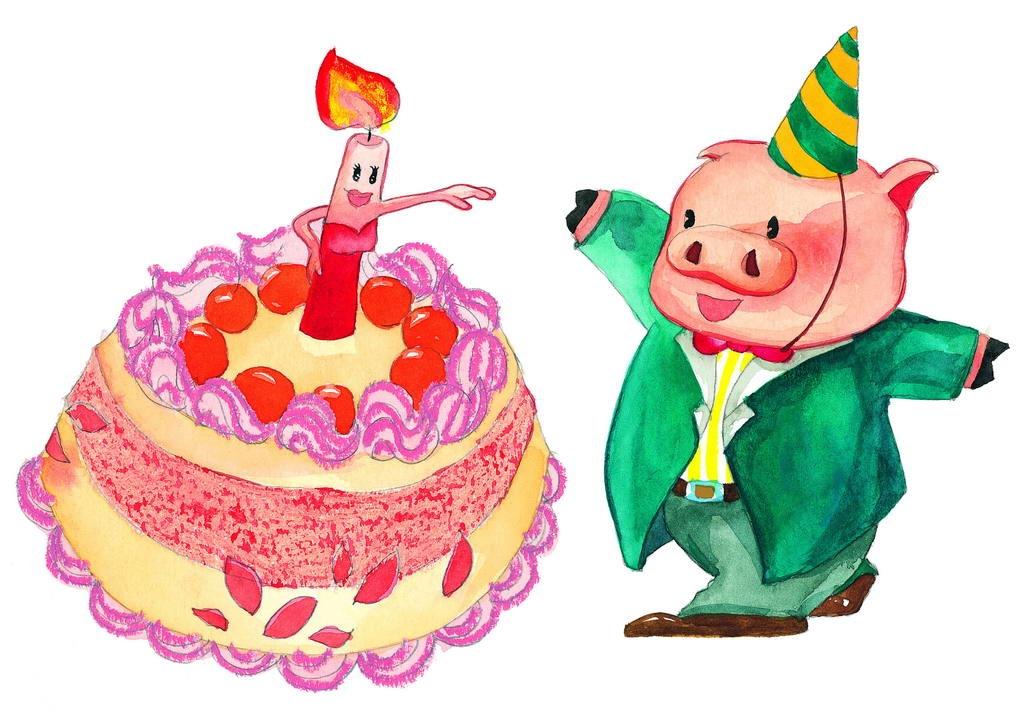 2019猪你快乐卡通图片